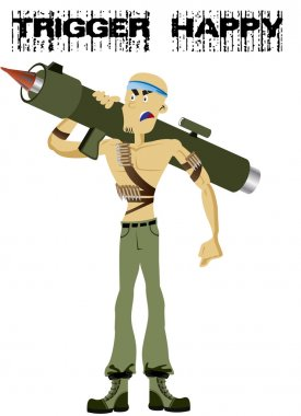 soldier with bazooka.