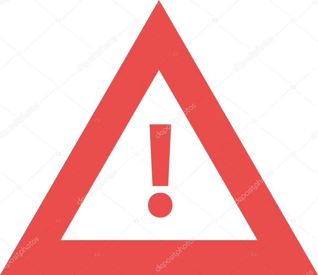 треугольник с восклицательным знаком внутри