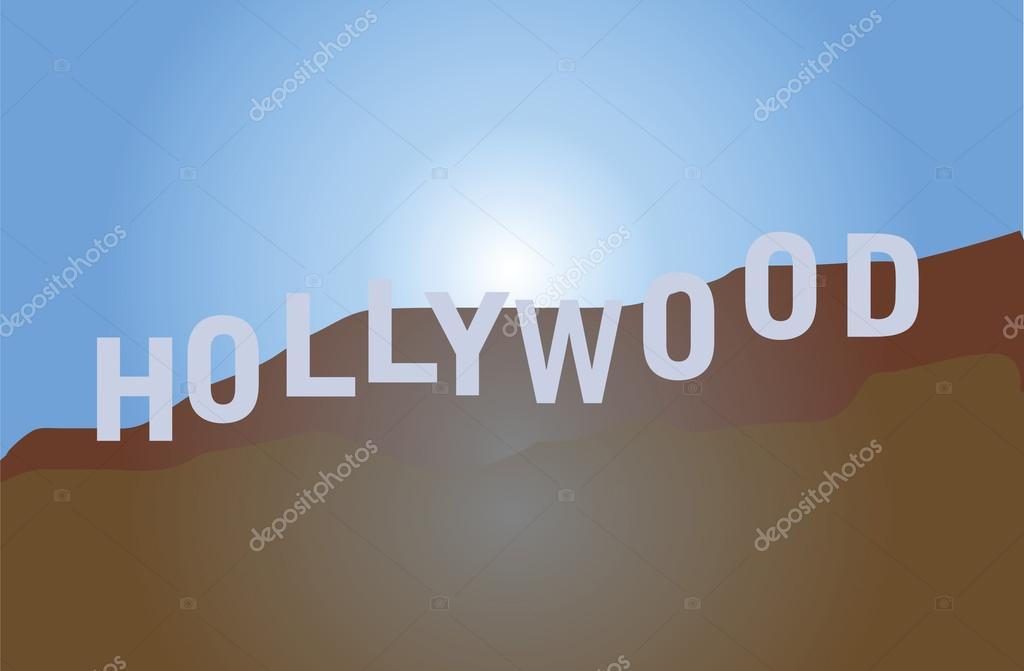 Digital Illustration Of Hollywood Sign Vector By Kozzi2