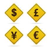 vektor znamení měny