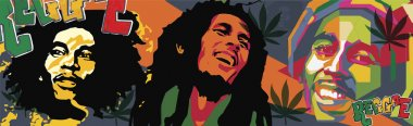bob marley clipart illustration