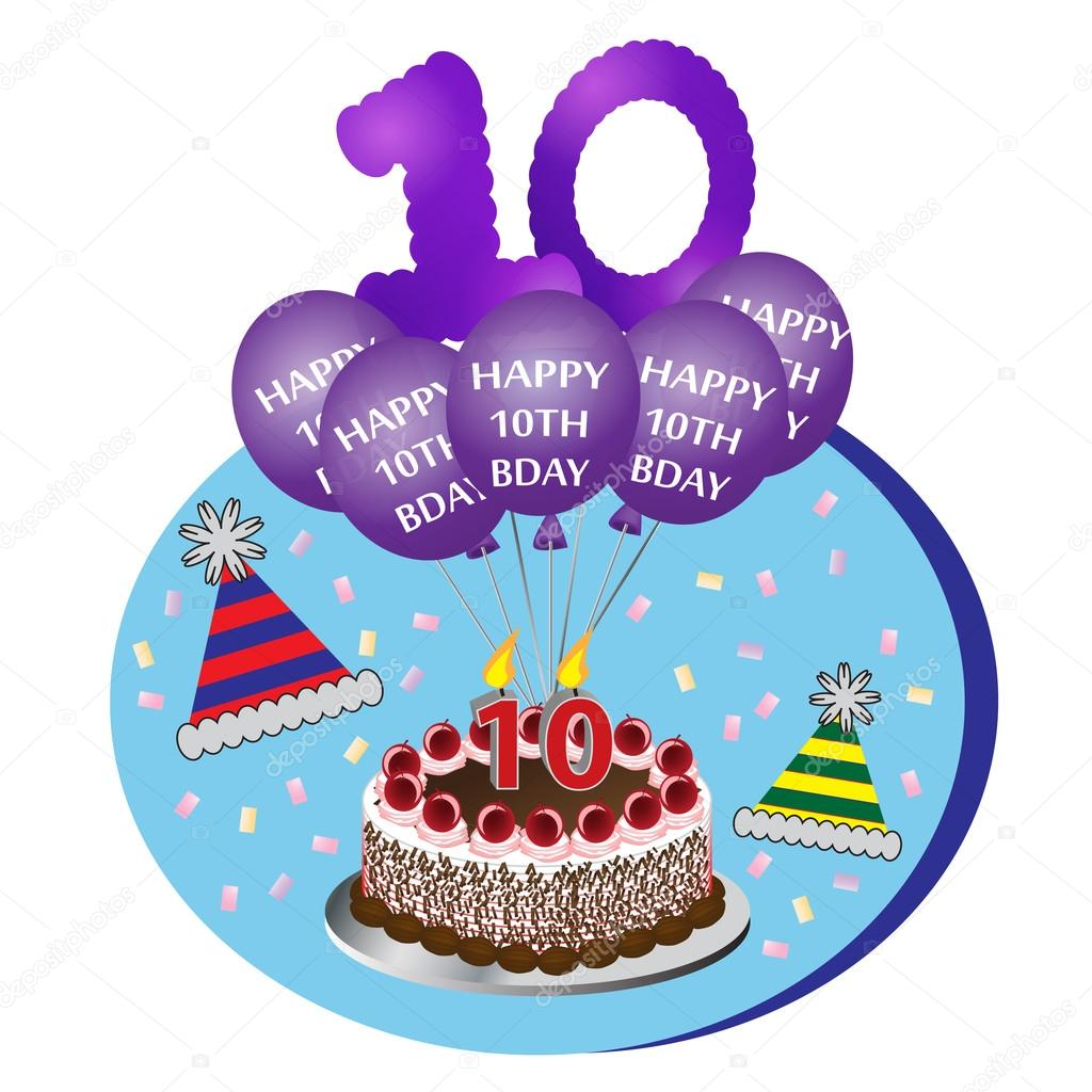 Image result for Birthday 10th cake