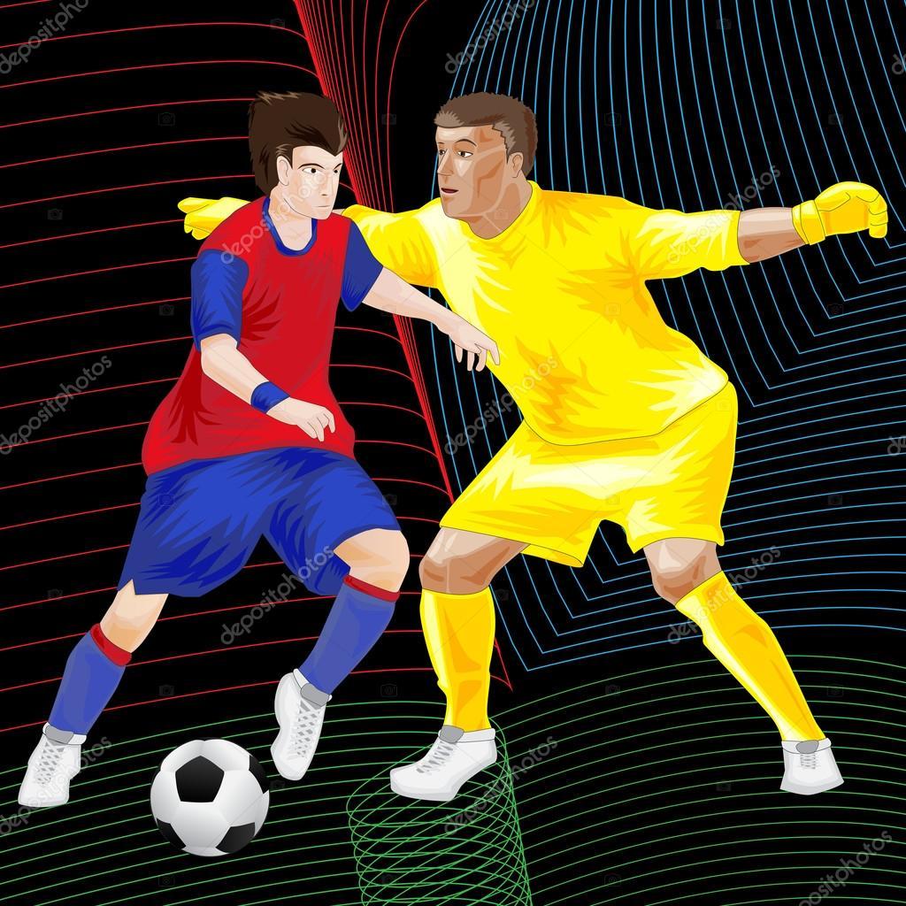 Clipart Fur Fussball Spieler Stockvektor C Kozzi2 108792984