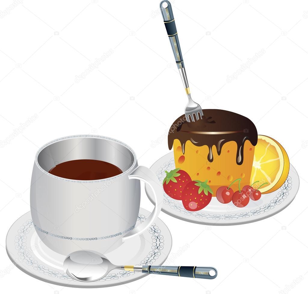 clip art koffie en gebak — Stockvector © kozzi2 #108814118