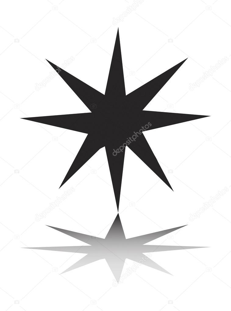 Christmas star clipart illustration– stock illustration