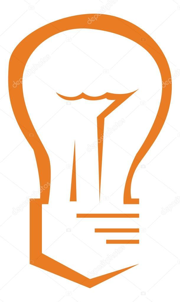 Glühbirne Symbol orange — Stockvektor © kozzi2 #109058560