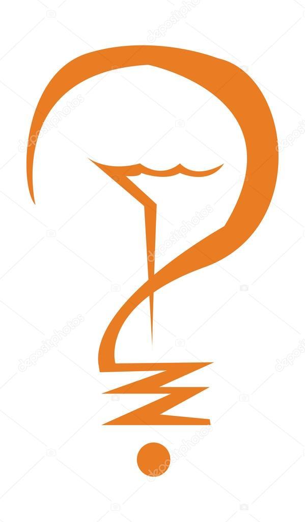 Glühbirne Symbol orange — Stockvektor © kozzi2 #109058888
