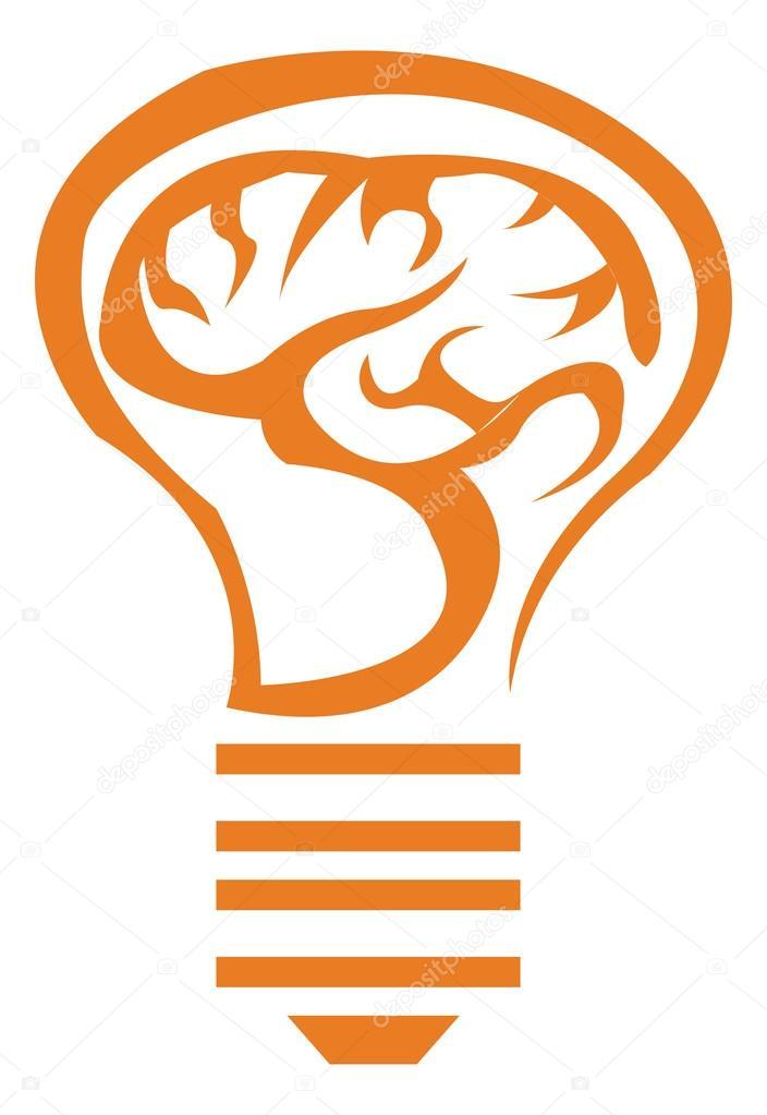 Glühbirne Symbol orange — Stockvektor © kozzi2 #109059322