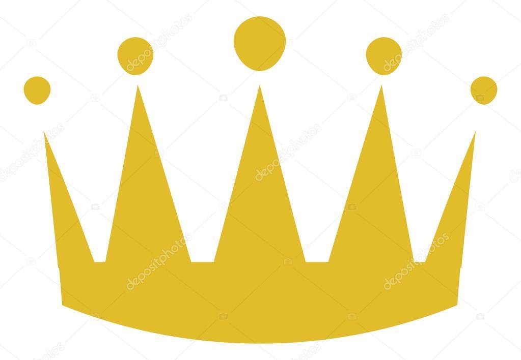 Crown illustration gold
