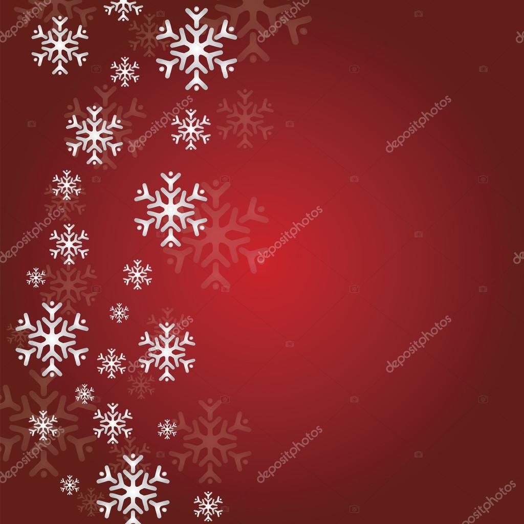 Rote satin Weihnachten Schneeflocke Hintergründe — Stockvektor ...