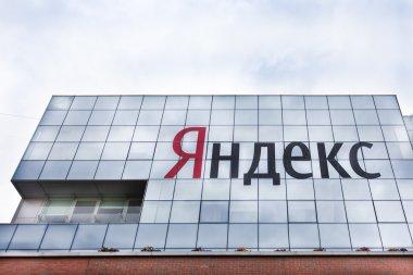 Yandex name on Yandex  office building