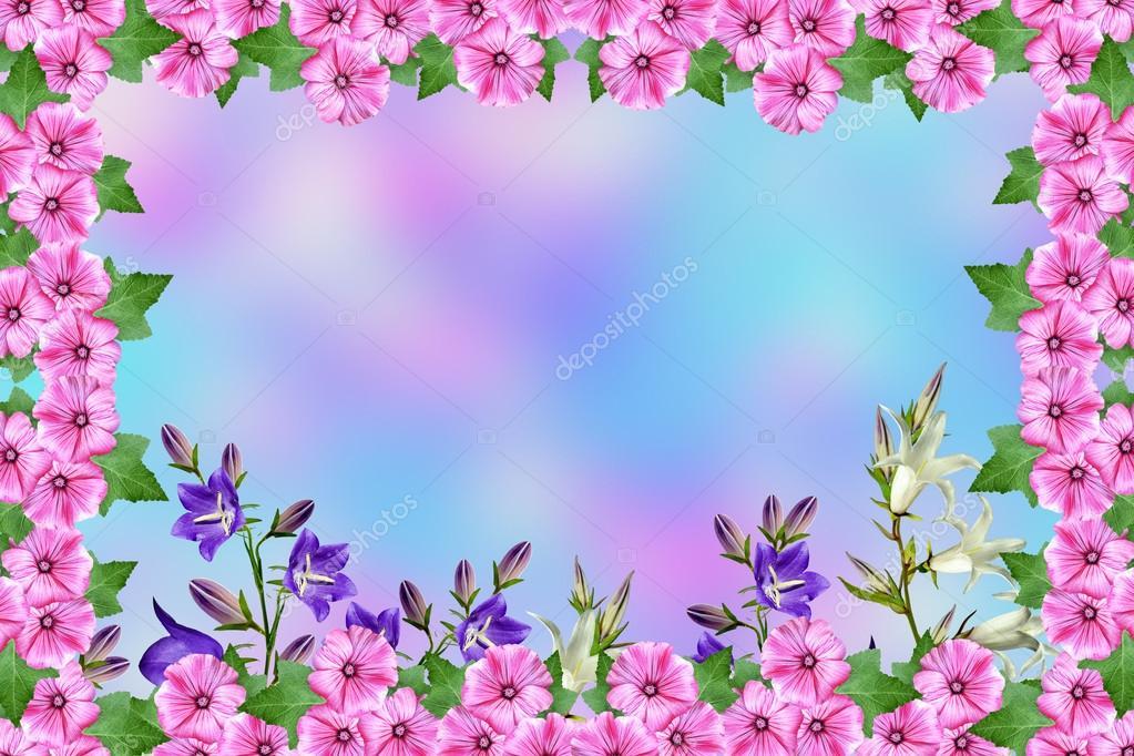 Paisagem De Ver 227 O Quadro De Lindas Flores Coloridas De