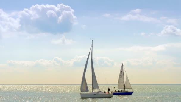 Yachting in Markermeer lake