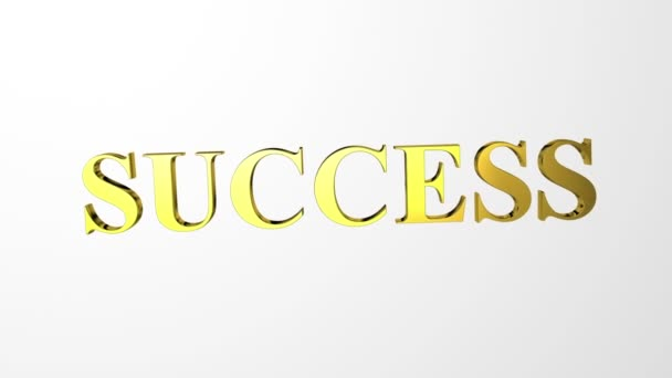 Glossy golden Success letters