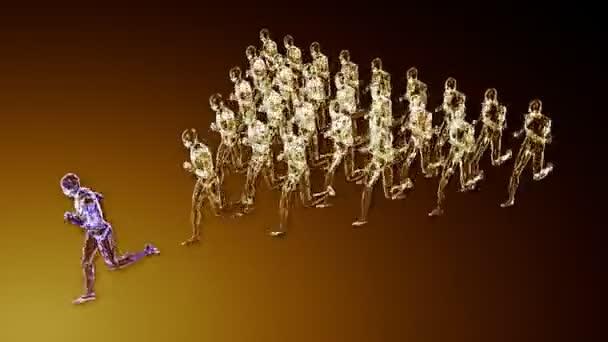 group of clones running