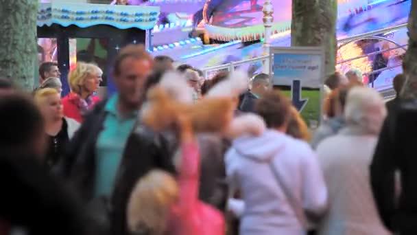 People visiting the annual funfair in Hoorn