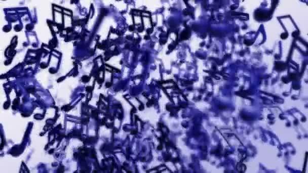 Note di musica che scorre liberamente nello spazio