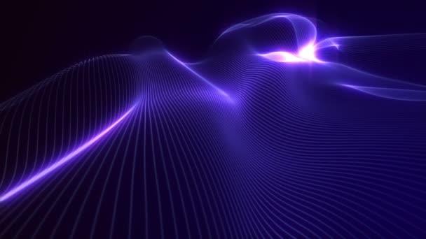 zvlněná řetězce plynulý v prostoru