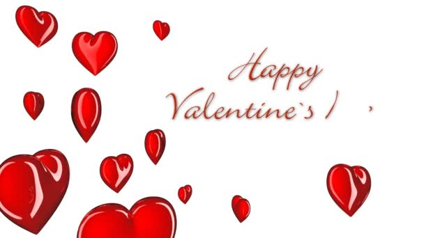 Valentine Card Heart Symbols And Text Stock Video Opa4opa 74193169