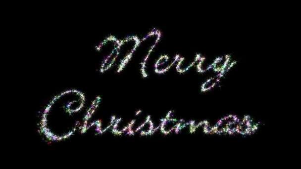 Veselé Vánoce třpytivé dopisy