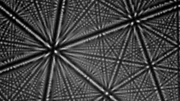 puntini bianchi che formano linee e forme