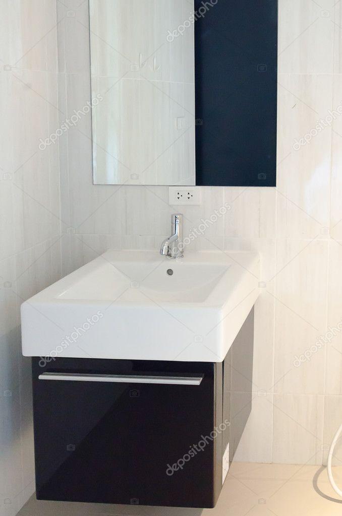 Luxus Waschbecken Bad Eine Moderne Innenarchitektur Stockfoto