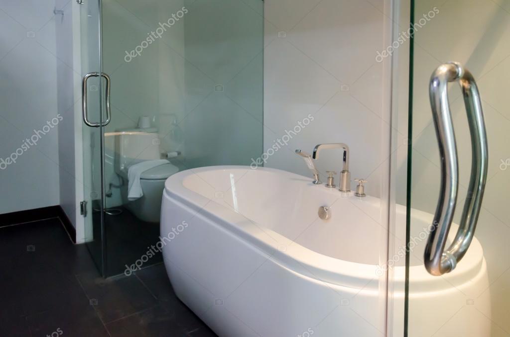 Luxus Weiße Moderne Badewanne Dekoration Bad U2014 Stockfoto