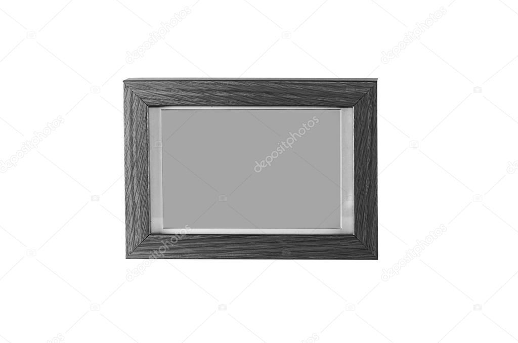 fotografía en blanco y negro marco madera — Foto de stock © aoo8449 ...