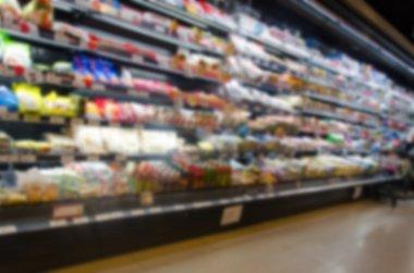 Blurred Supermarkets