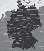 Fotografie Schwarz / weiß-Karte von Deutschland