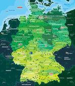 Fotografie Stadtplan Deutschland