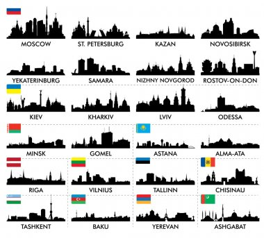 City skyline eastern and northern Europe and Central Asia