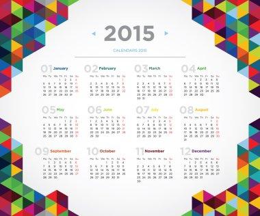 Vector template design calendar 2015