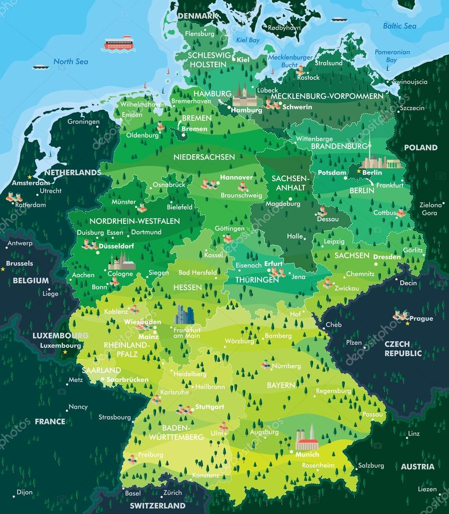 map germany stock vector