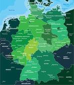 Fotografie Farbe-Karte von Deutschland