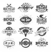 Fotografie Typographic Bicycle Label Design and Logo