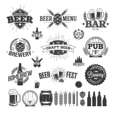 Beer Label and Logos stock vector