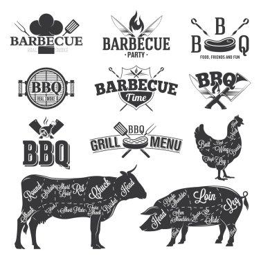 BBQ Emblems and Logos
