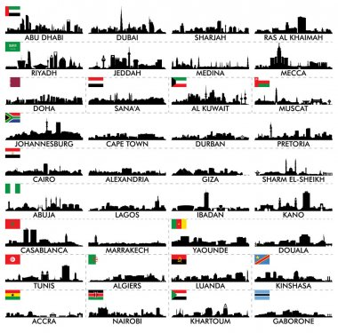City skyline The Arabian Peninsula and Africa