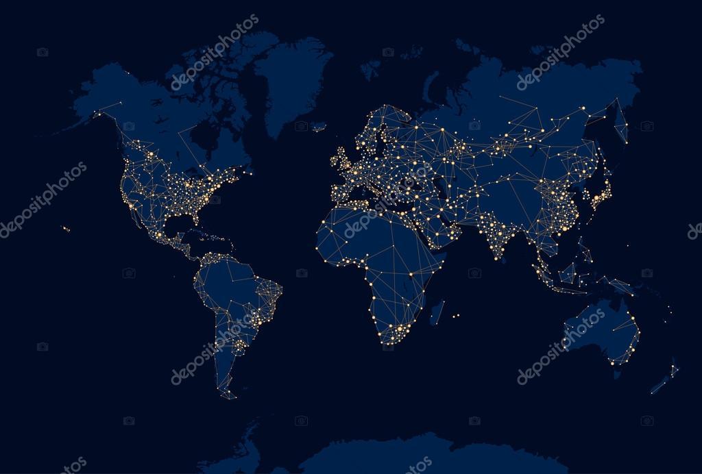 Abstract night world map stock vector max776 83907584 abstract night world map stock vector gumiabroncs Gallery