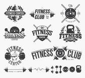Photo Typographic Fitness Emblems