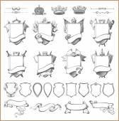 Vektor heraldische Elementsammlung und Wappenvorlage