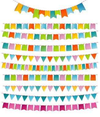 Bunting party color flags