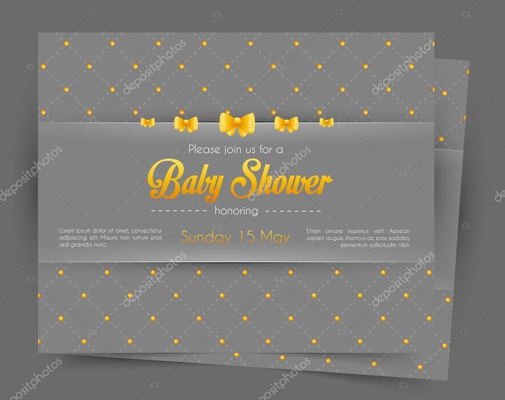 Baby-Dusche-Kartenvorlage — Stockvektor © SonneOn #54302679