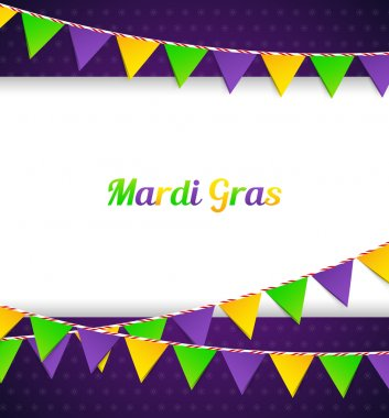 Mardi Gras background with flags