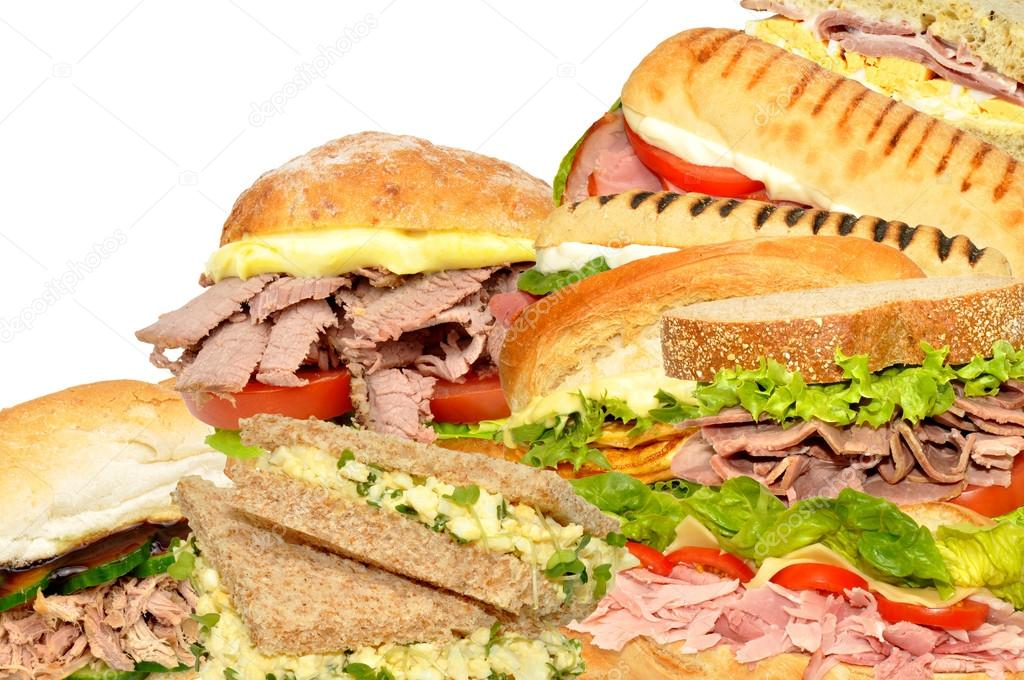 Fresh Sandwich Collage