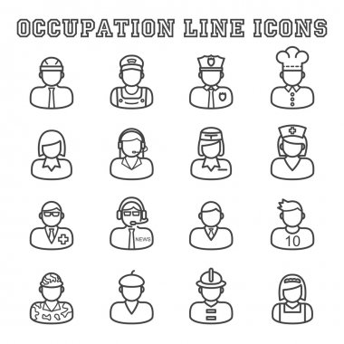 occupation line icons