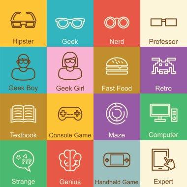 geek outline design