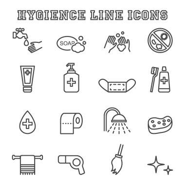 hygiene line icons