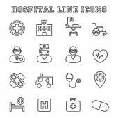 Fotografie hospital line icons